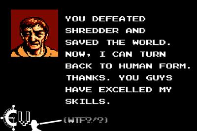 - Sí, Splinter se hacía humano -