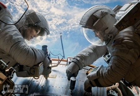 George Clooney y Sandra Bullock en el espacio... podría suceder... no?